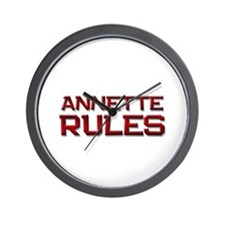 annette rules Wall Clock