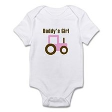 Daddy's Girl - Pink Tractor Onesie