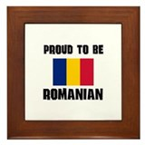 Proud To Be ROMANIAN Framed Tile