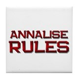 annalise rules Tile Coaster