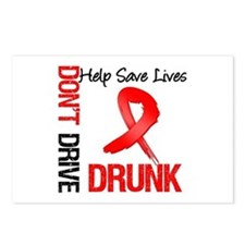 Don't Drive Drunk Save Lives Postcards (Package of