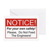 Notice / Engineers Greeting Card