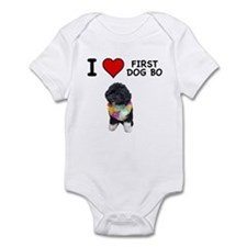 I Love First Dog Bo Infant Bodysuit