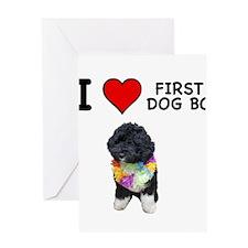 I Love First Dog Bo Greeting Card