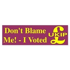 I Voted UKIP Bumper Bumper Sticker