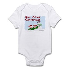 First Christmas Peapods Infant Creeper