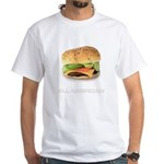 Ad-Free All american ass burger White T-Shirt