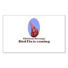 Chickens revenge, bird flu is coming Decal