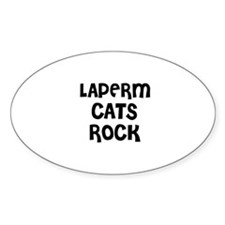 LAPERM CATS ROCK Oval Decal