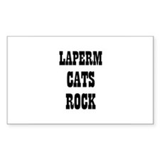 LAPERM CATS ROCK Rectangle Decal