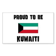 Proud To Be KUWAITI Rectangle Decal