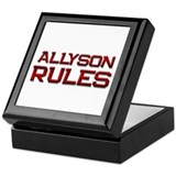 allyson rules Keepsake Box