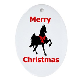 American Saddlebred Merry Christmas Ornament