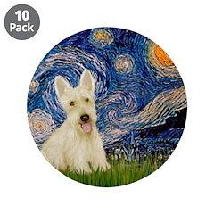 "Starry Night / Scottie (w) 3.5"" Button (10 pack)"