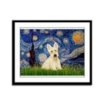 Starry Night / Scottie (w) Framed Panel Print