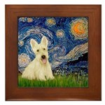 Starry Night / Scottie (w) Framed Tile
