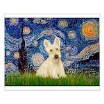 Starry Night / Scottie (w) Small Poster