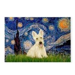 Starry Night / Scottie (w) Postcards (Package of 8