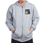 Starry Night / Scottie (w) Zip Hoodie