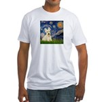 Starry Night / Scottie (w) Fitted T-Shirt