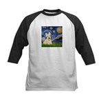 Starry Night / Scottie (w) Kids Baseball Jersey