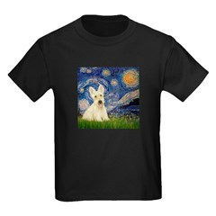 Starry Night / Scottie (w) Kids Dark T-Shirt