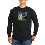 Starry Night / Scottie (w) Long Sleeve Dark T-Shir