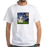 Starry Night / Scottie (w) White T-Shirt