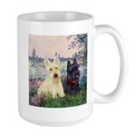 Seine / Scotties (b&w) Large Mug