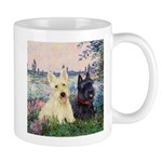 Seine / Scotties (b&w) Mug