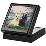 Seine / Scotties (b&w) Keepsake Box