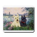 Seine / Scotties (b&w) Mousepad