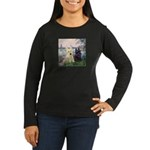 Seine / Scotties (b&w) Women's Long Sleeve Dark T-
