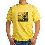 Seine / Scotties (b&w) Yellow T-Shirt