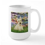 Lilies / Scottie (w) Large Mug
