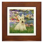 Lilies / Scottie (w) Framed Tile