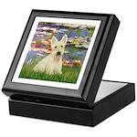 Lilies / Scottie (w) Keepsake Box