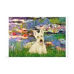 Lilies / Scottie (w) Mini Poster Print