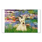 Lilies / Scottie (w) Sticker (Rectangle)