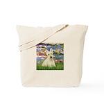 Lilies / Scottie (w) Tote Bag