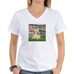 Lilies / Scottie (w) Women's V-Neck T-Shirt