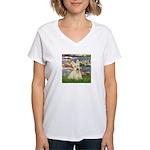Lilies / Scottie (w) Women's V-Neck T-Shirt