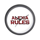 alexia rules Wall Clock