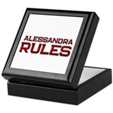 alessandra rules Keepsake Box