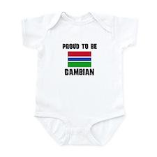 Proud To Be GAMBIAN Onesie