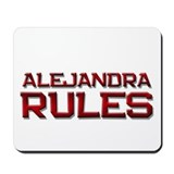 alejandra rules Mousepad