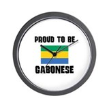 Proud To Be GABONESE Wall Clock