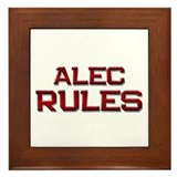 alec rules Framed Tile