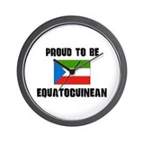 Proud To Be EQUATOGUINEAN Wall Clock