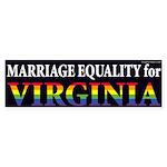 Virginia Marriage Equality bumper sticker
